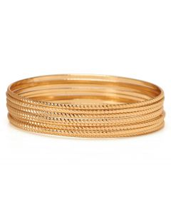 Gold Omni Bangle Set